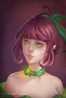 Green Elf Portrait by shoshoxiang