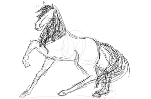 Gross sketchy horse by Karinart8