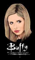 Buffy  - t-shirt design by Odin22