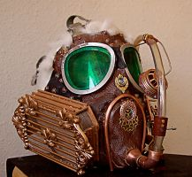 Steampunked gas mask 2 by Zoomwafflez