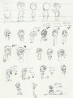 Sketches - Construction, Gestures and Expressions by Grivous