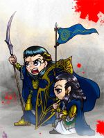 Gil-galad and Elrond by Takemitu