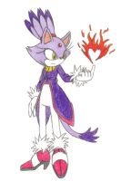 Prize: Blaze the Cat 'Heart of Burning Flame' by Destructodoom