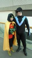 Fanime: Nightwing And Robin by kay-sama
