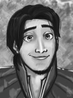 Flynn Rider Rough Sketch by applejaxshii