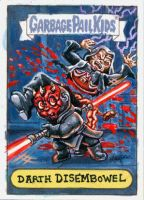Darth Disembowel Sketch Card by DeJarnette