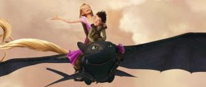 Original Rapunzel and Hiccup by Robono