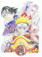 Team 7 with summons by ConkerTSquirrel