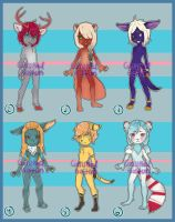 Collab Anthros Adopts - SOLD (check with waffles) by Bostonology