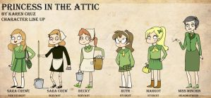 Princess in the attic line up by KaLixel