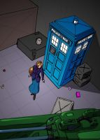 TARDIS In Cargo Hold by Bonjman