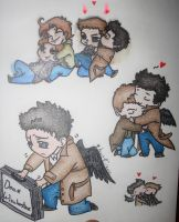 Supernatural Cute Chibis by amcc97