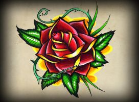 old school rose by TimHag
