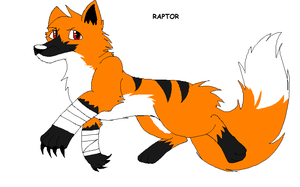 Raptor the fox by Obsidianthewolf