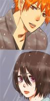 IchiRuki Month: May 1: Rain by Pamianime