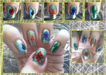 Ronin Warriors Manicure by MikariStar
