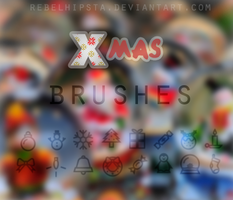 Xmas Brushes by silly-luv