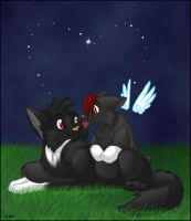 Shadowclaw and Angelheart by intolart