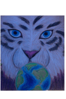 White Tiger Over Looking the World by Polyanther