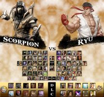 Mortal Kombat vs. Street Fighter Universe by sprite-genius