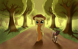 An apple alley by fajeh