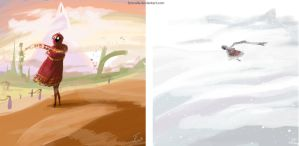 Journey Speedpaints by Fyrecalla