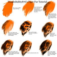 Tiger Fur Tutorial by TangledTabby876