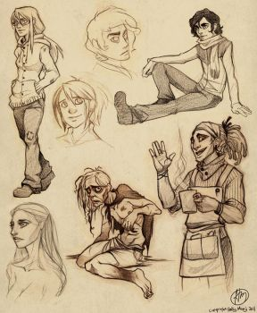 Urban Decay first sketch dump by Luthie13