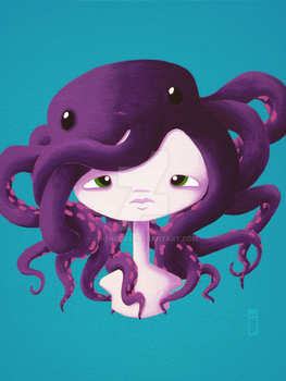 Octopus Girl . Octomonster by ghehcore