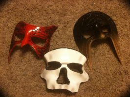 Custom Leather Masks by hellcattheassassin