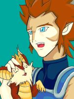 Lion-O and Snarf by AnzuFan