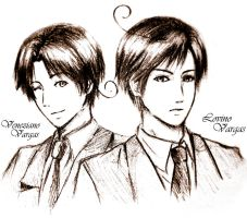 Veneziano and Lovino Vargas by ExelionStar