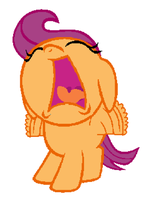 Crying Scootawoo by 3D4D