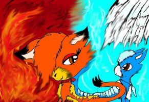 Fire And Ice Cats by NottheVoreFreak