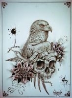 Eagle-skull by EdwardMiller