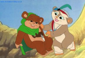 Hand Painted Star Wars Ewoks Production Cel by AnimationValley