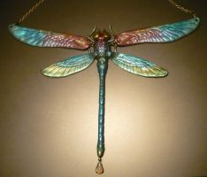 Spectral Dragonfly II- Necklace by Ganjamira