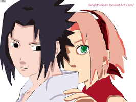 SasuSaku Together Colored by Akarui-no-Sakura