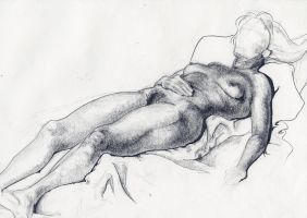 Woman Lounging by Lexi008