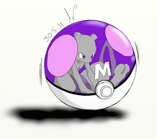 Mewtwo In MasterBall 2 Colour by MidnightCharizard