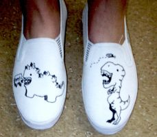 Dino Shoes by CaitlynEdwards91