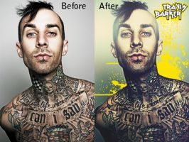 Travis barker Before and after by Angust