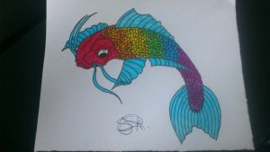 Jane the killer by gothicfurryreni on deviantart for Rainbow koi fish