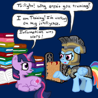 Artist Training Grounds: Mock War, Day 2 by FicFicPonyFic