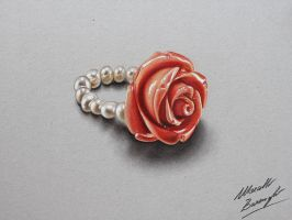 Rose ring DRAWING by Marcello Barenghi by marcellobarenghi