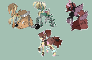 :Tailmouth Pony Adopts: set 1 (closed) by AzrealRou