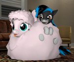 Kira and Fluffle Puff by Neros1990