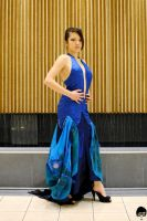 Blue Gown by TaliTjiang