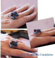 Chaos wirewrapped ring by CrysallisCreations