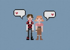 In Love Bender and Claire cross stitch pattern by avatarswish